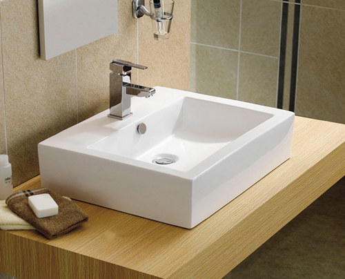 CA72   Modern Square Counter Top Bathroom Basin Sink Bowl