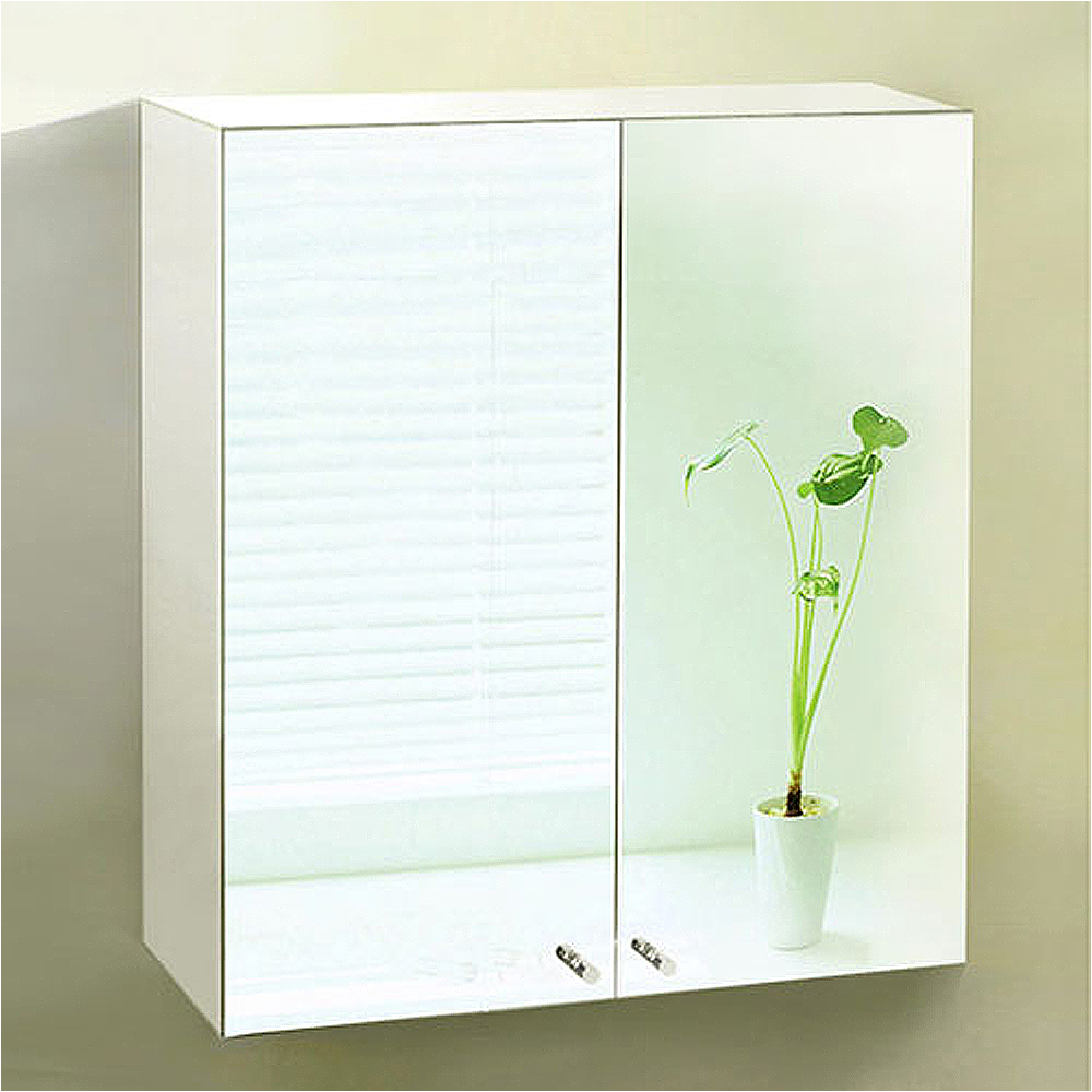 Stainless steel double door wall hung mirror bathroom cabinet storage unit mc21 ebay for Double door mirrored bathroom cabinet