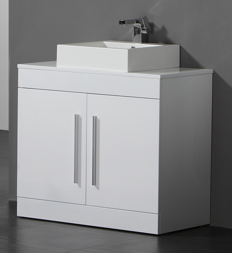 This 900mm white wood finish twin door bathroom cabinet is manufactured from 15mm board internally and 18mm board externally  ensuring that it is robust and. Bathroom Sink Basin Floor Storage Cabinet Vanity Unit   eBay