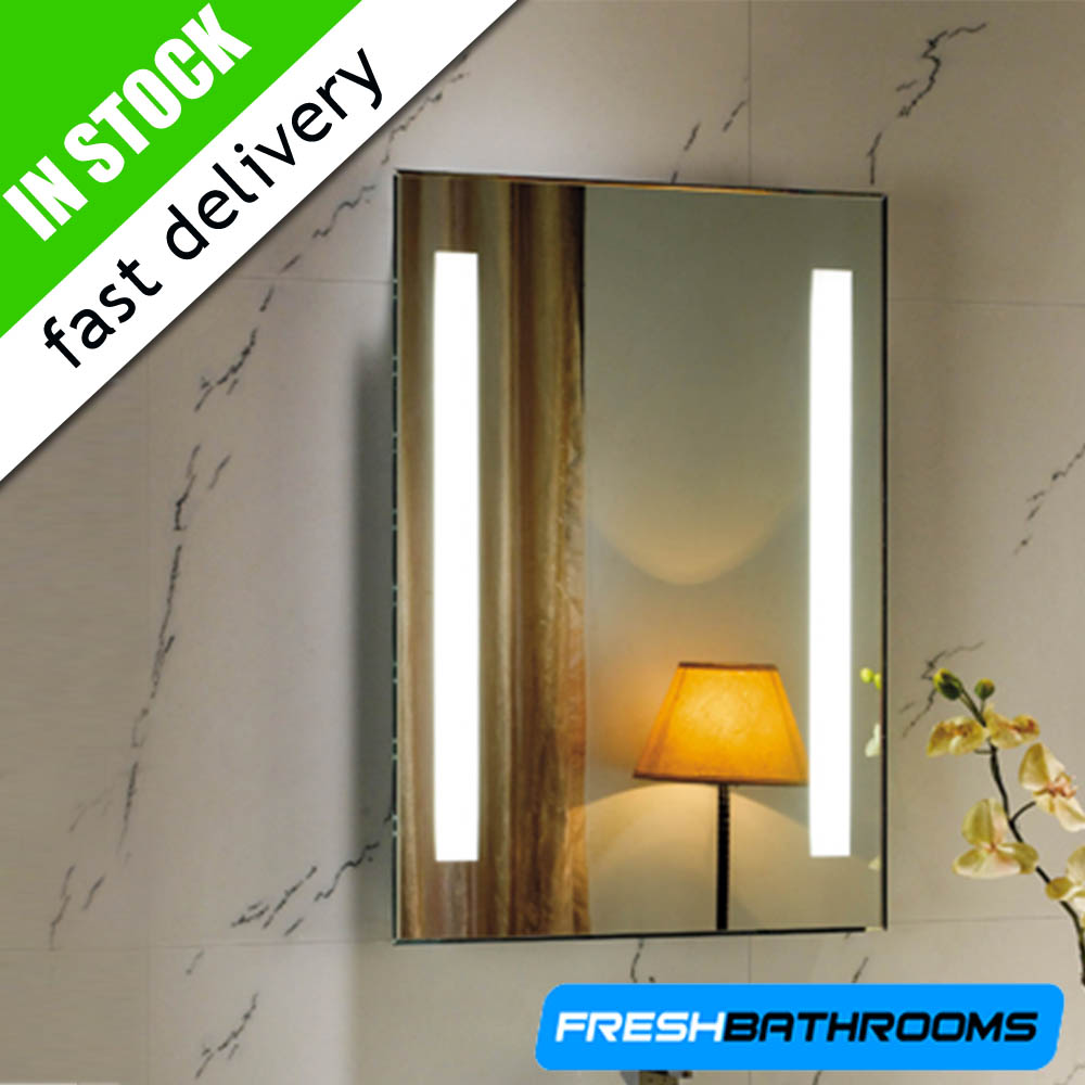 Illuminated Backlit Wall Mounted Bathroom Mirrors With Demister Sensor Switch