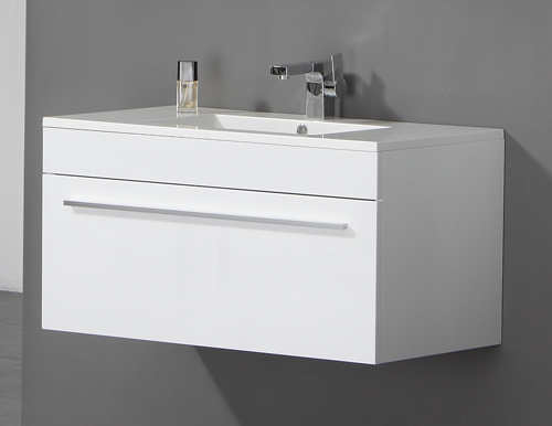 this 900mm twin drawer wall mounted bathroom cabinet is manufactured