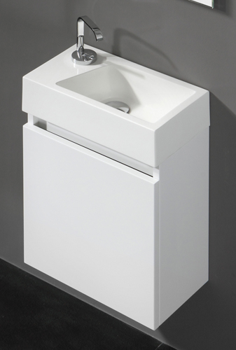 Wall Hung Cloakroom Basin Unit : Wall Hung Modern Bathroom Cloakroom Basin Sink Vanity Unit eBay