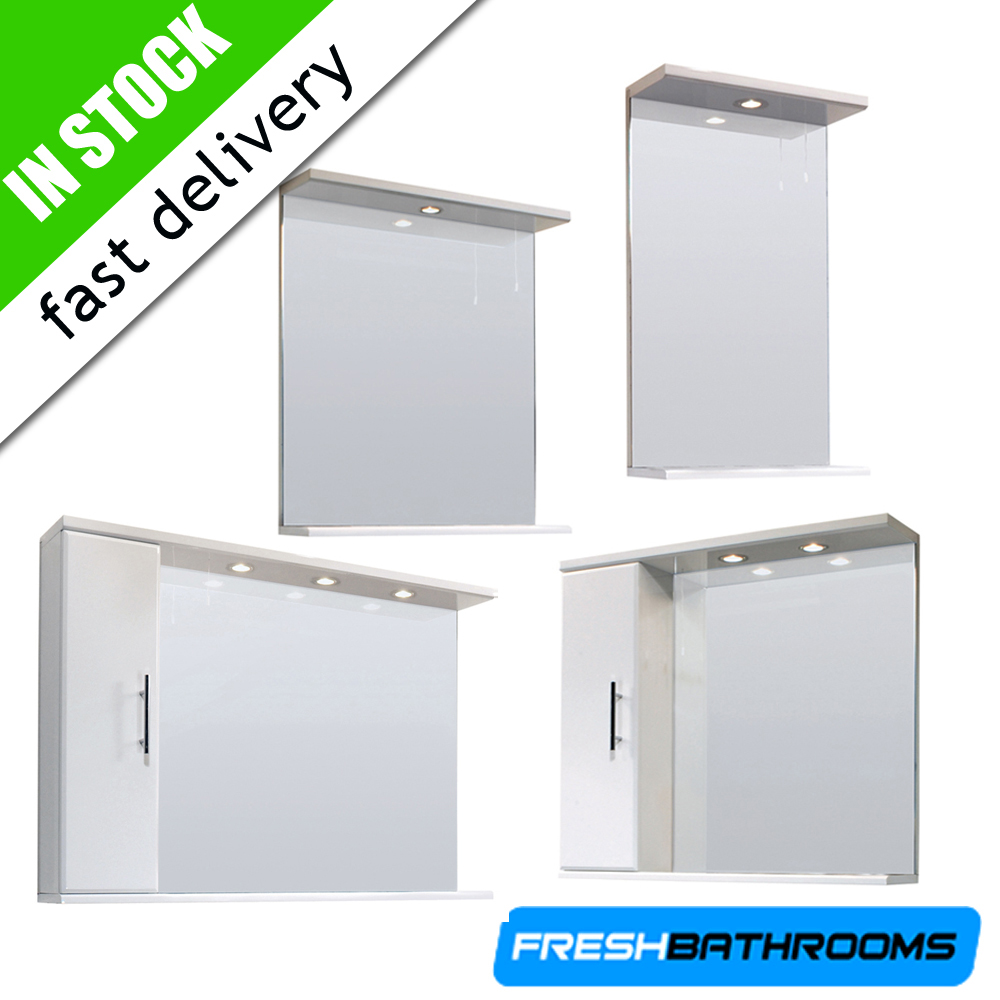 bathroom furniture high gloss white storage vanity mirror cabinet