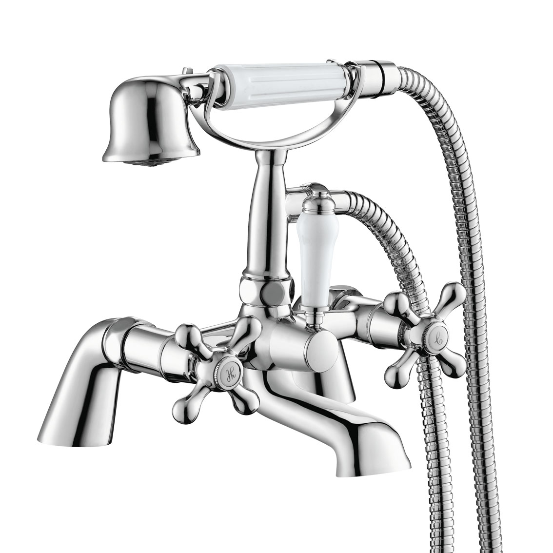traditional bath filler tap hand held shower head
