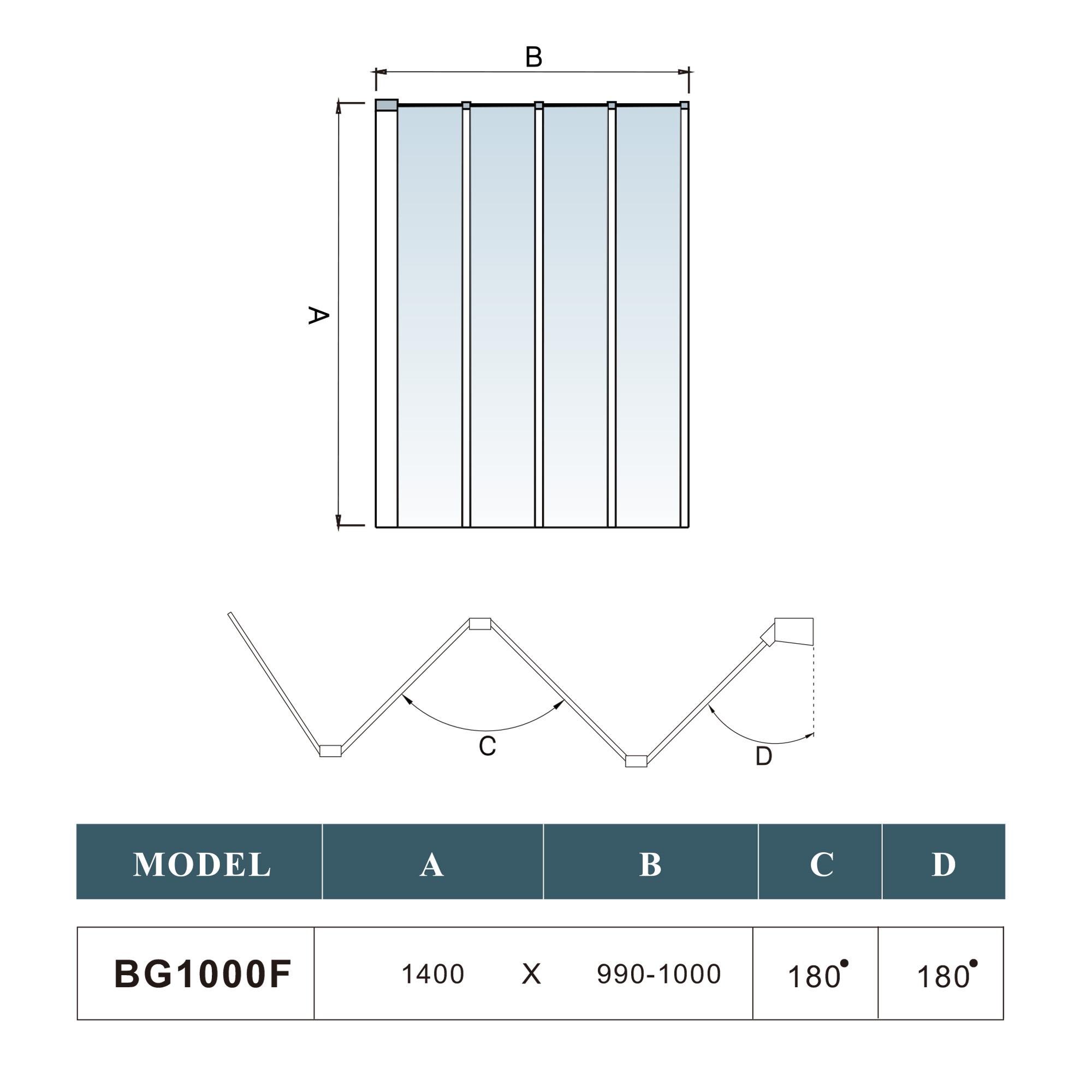 1000mm folding bath shower screen modern designer glass 1000mm folding bath shower screen modern designer glass