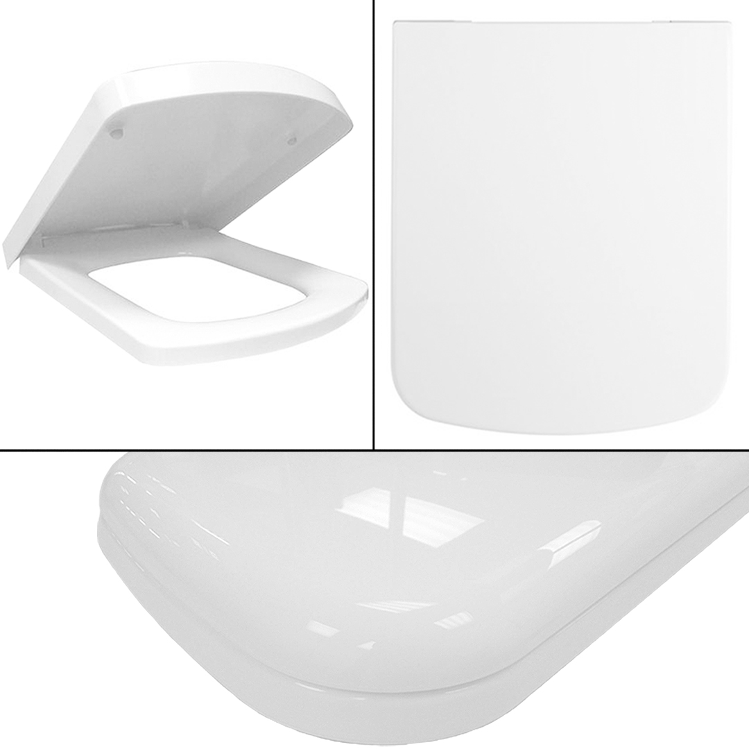 Modern White Luxury Soft Close Toilet Bathroom Accessories WC Seat Fittings C
