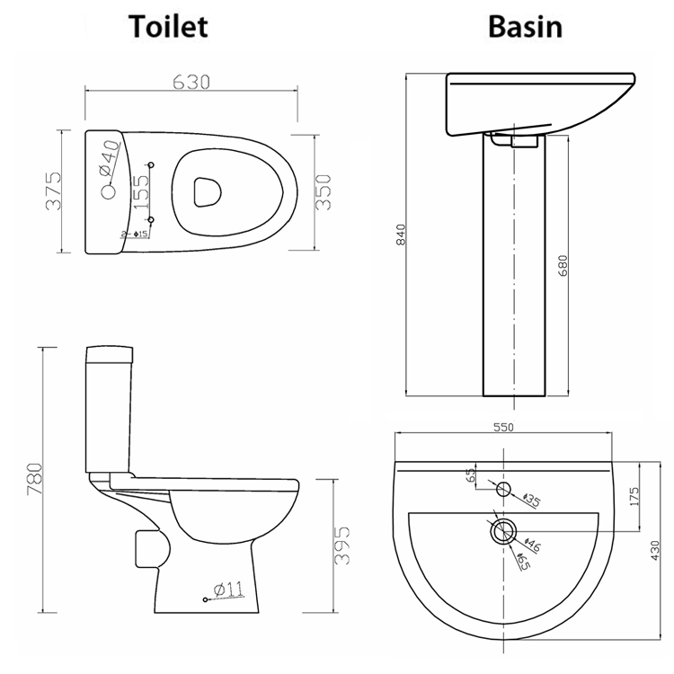 Toilet Basin Height