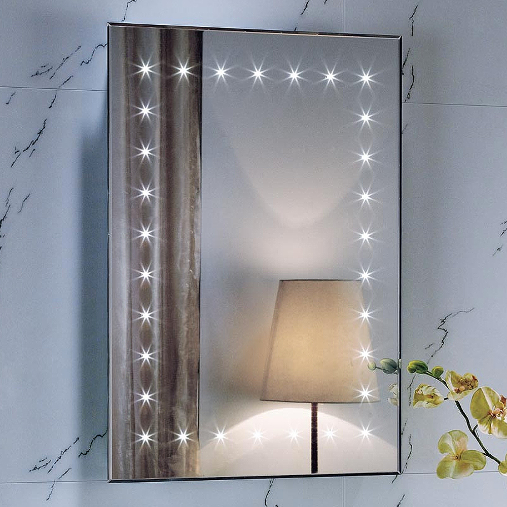 700 x 500 Wall Hung Vanity Unit Slimline Illuminated LED