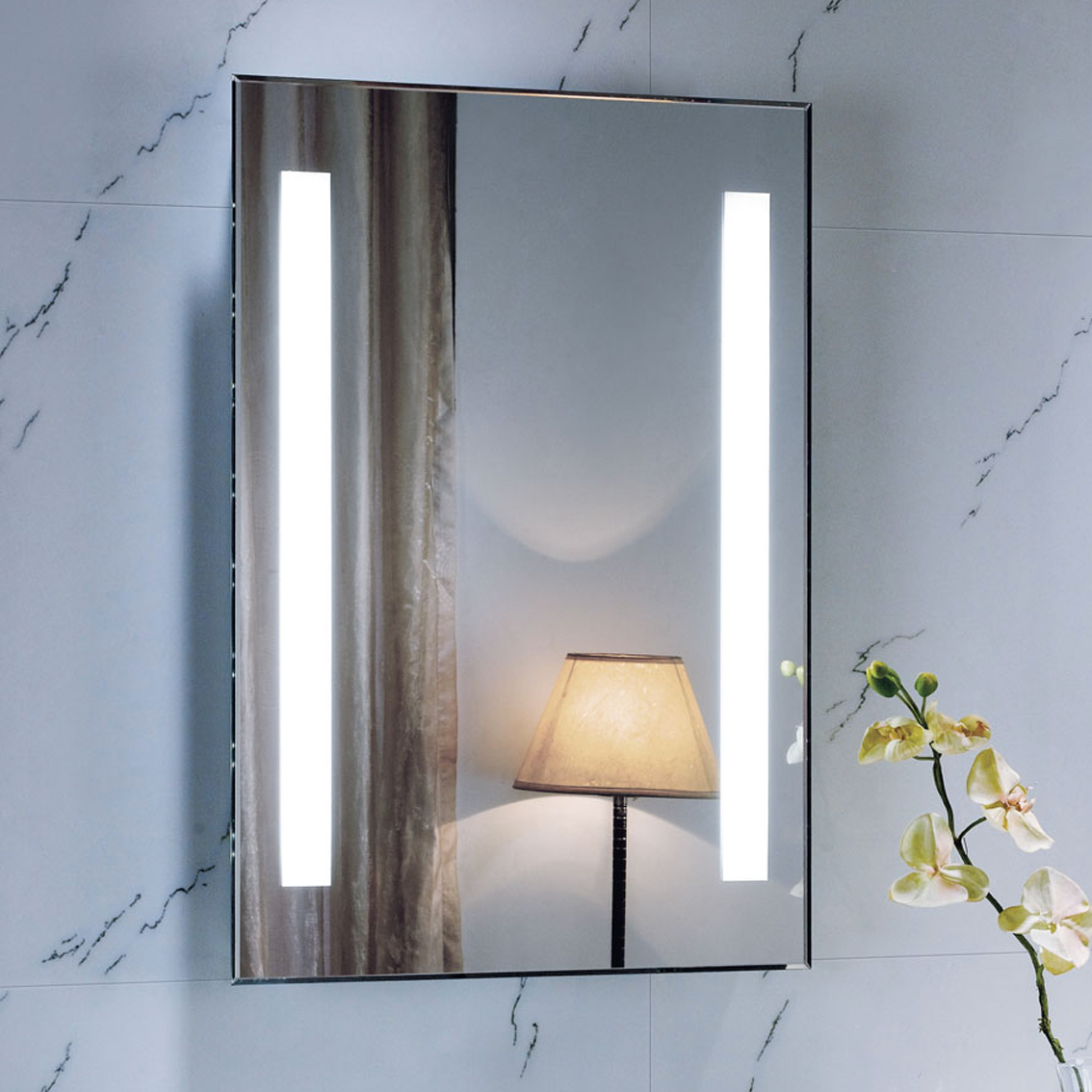 Illuminated Mirrors Bathroom: 700 X 500 Backlit Bathroom Mirror Wall Mounted Demister