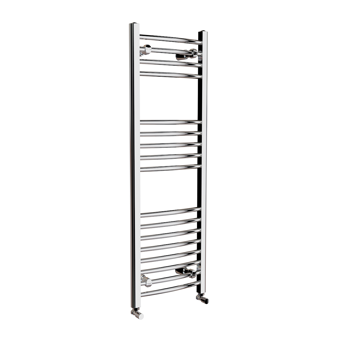 Natasha ladder rail straight modern electric towel radiator in chrome - 650x400mm Chrome Straight Rail Ladder Towel Radiator Natasha