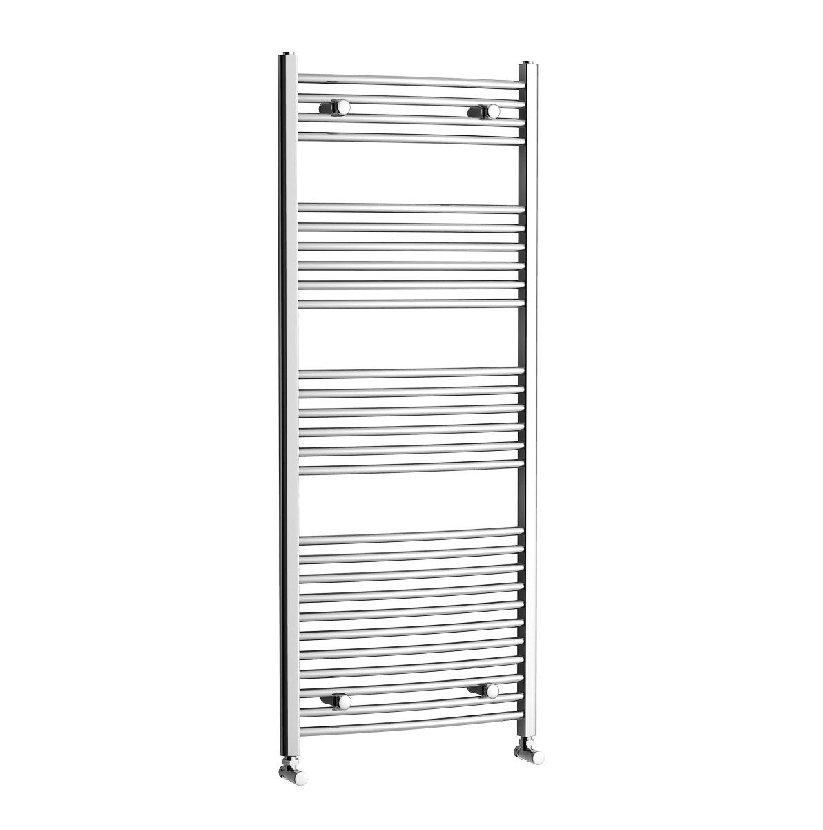 1150x450mm Chrome Curved Rail Ladder Towel Radiator - Natasha