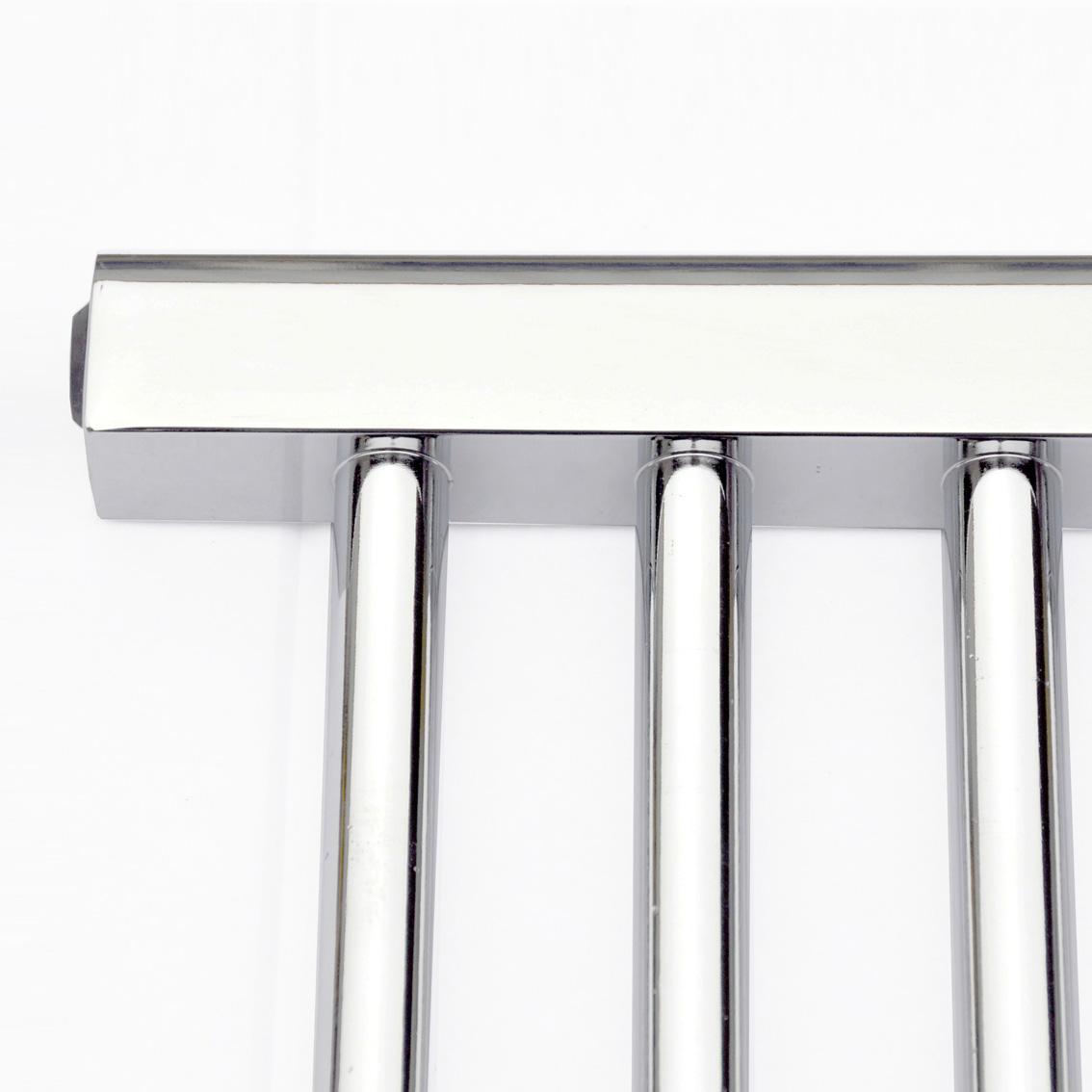Natasha ladder rail straight modern electric towel radiator in chrome - 1200 X 400 Thermostatic Electric Towel Rail