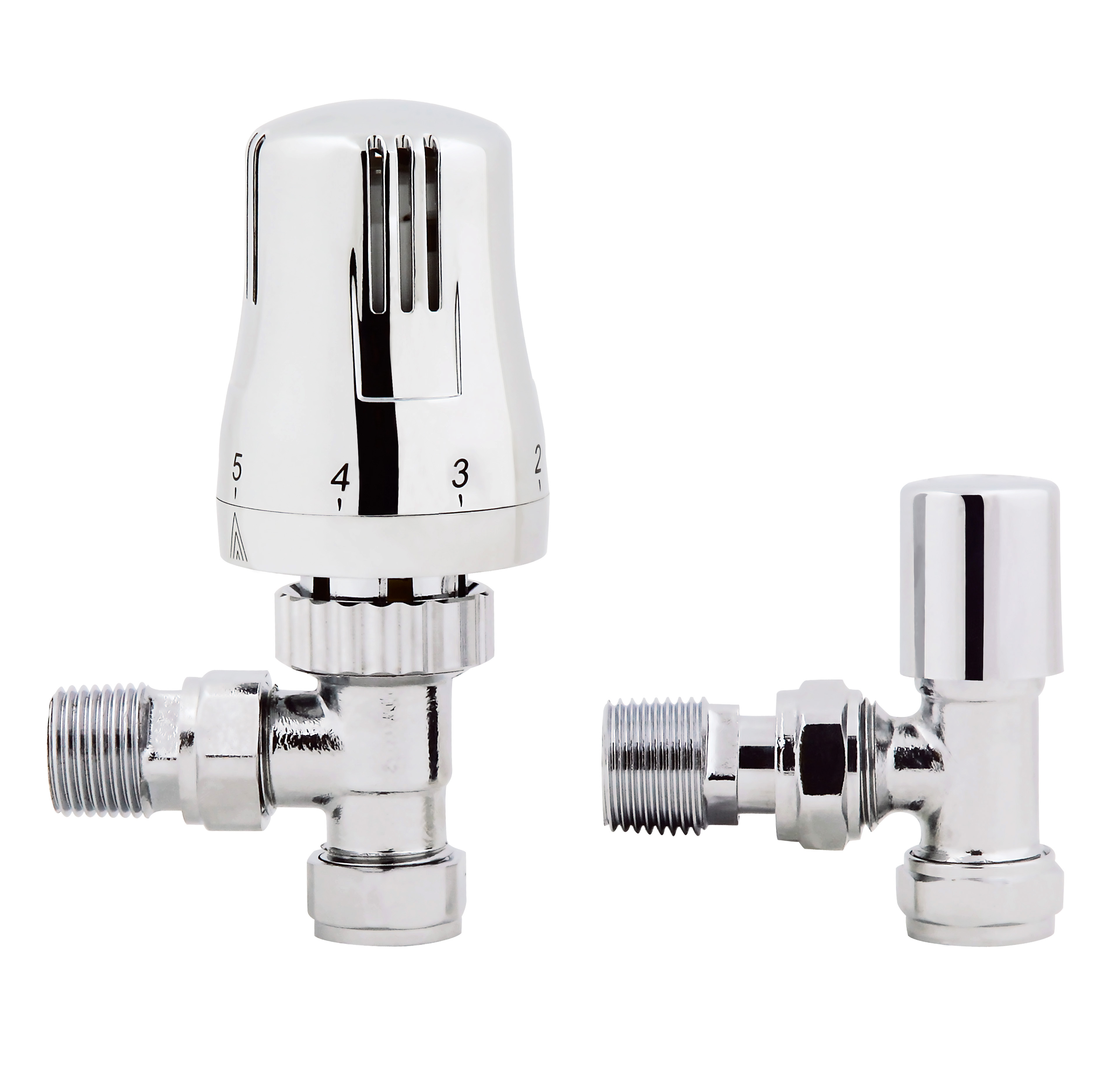Thermostatic Angled Radiator Valves Modern Chrome Heated Towel Rail Ra07a Ebay