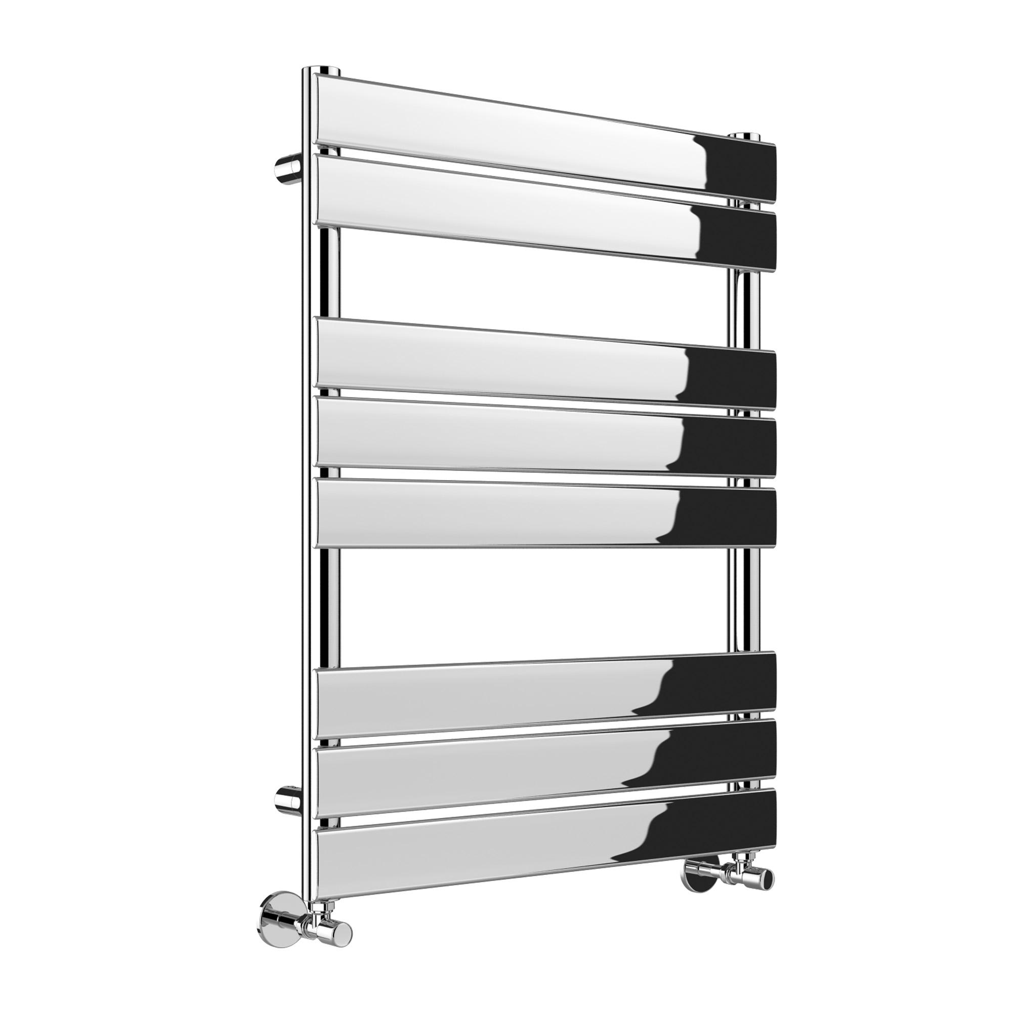 Heated Towel Rail Vertical: Vertical Designer Flat Panel Chrome Heated Towel Rail