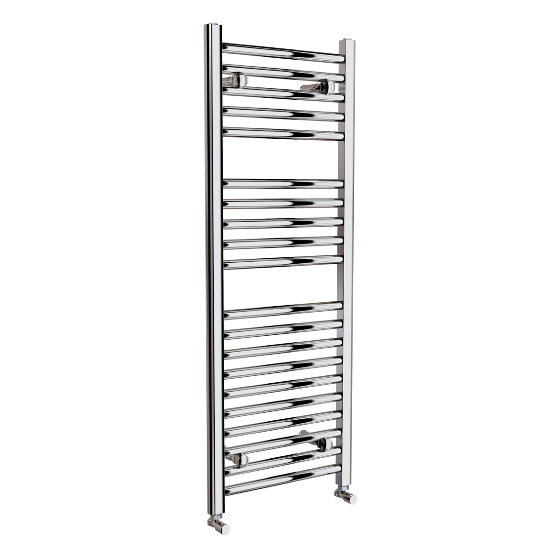 650x400mm Chrome Straight Rail Ladder Towel Radiator - Natasha