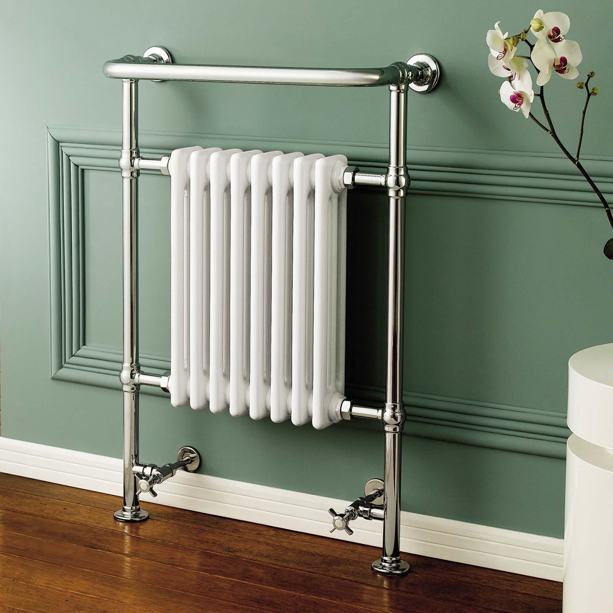 traditional bathroom heated towel rail column victorian. Black Bedroom Furniture Sets. Home Design Ideas