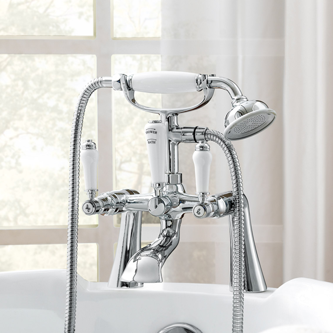 Chrome Traditional Bathroom Lever Handle Sink Bath Bidet Mixer Shower Taps. Chrome Traditional Bathroom Lever Handle Sink Bath Bidet Mixer