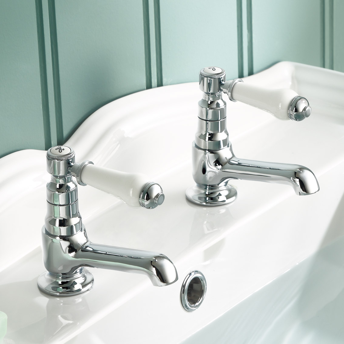 traditional twin single lever basin taps chrome bathroom sink taps tb134 ebay