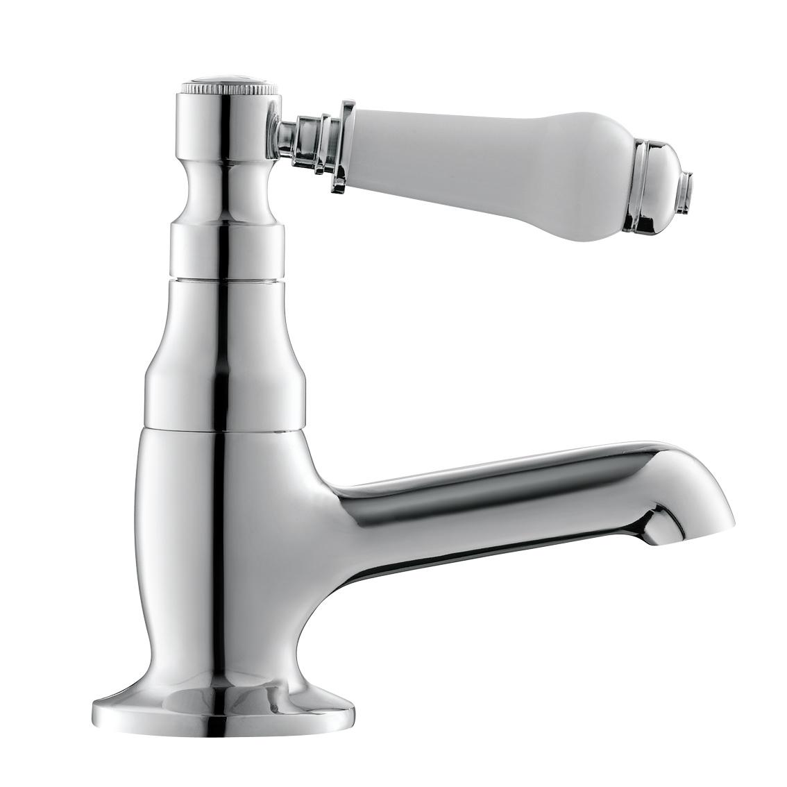 Traditional Twin Single Lever Basin Taps Chrome Bathroom Sink Taps Tb134 Ebay