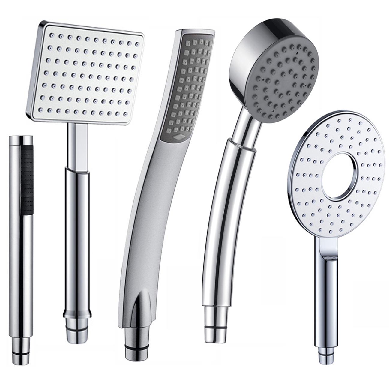 chrome hand held thermostatic mixer shower head hose ebay. Black Bedroom Furniture Sets. Home Design Ideas
